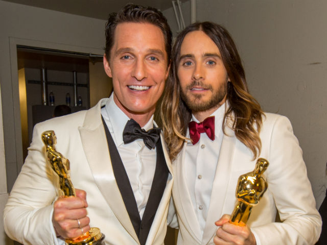 Don't forget, they were both winners in their respective actor categories.