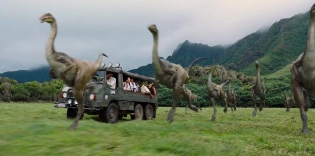 Jurassic World Trailer Screenshot Car Dino
