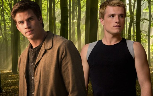 Gale (left) and Peeta (right)
